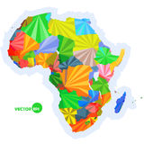 Map of Africa. concept map with countries Colorful Africa map, abstract background design infographic, Africa map in Royalty Free Stock Photo