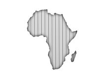 Map of Africa on corrugated iron Royalty Free Stock Photography