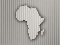 Map of Africa on corrugated iron Stock Images