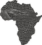 Map of Africa in crocodile skin Stock Image