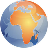 Map of Africa on globe   Stock Images