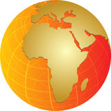 Map of Africa on globe  illustration Royalty Free Stock Photography