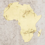 Map of africa Royalty Free Stock Photo