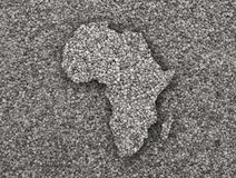 Map of Africa on poppy seeds Royalty Free Stock Photos
