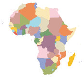 A map of Africa Stock Images