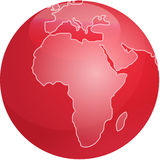 Map of Africa sphere Stock Images
