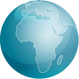 Map of Africa sphere Stock Photography