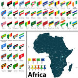 Map of Africa Royalty Free Stock Photography
