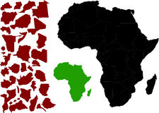 Map of Africa vector Royalty Free Stock Images