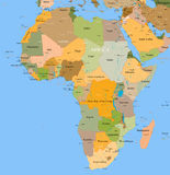 Map Africa - vector - detailed Royalty Free Stock Photography