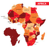 Map of Africa. Vector illustration Map of Africa country Royalty Free Stock Images