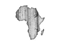 Map of Africa on weathered wood Stock Photography