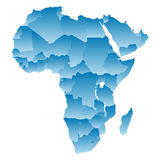 Map Africa Royalty Free Stock Photo