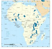 Map of the African stock illustration