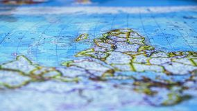 Map with African continent close-up, travel and adventures, world geography. Stock photo stock image
