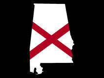 Map of Alabama Royalty Free Stock Image