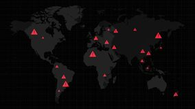 Map About Alarms or Signals All Over the World Animate Background