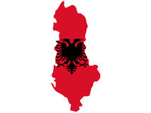 Map of Albania Stock Photo