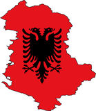 Map Albania-Vector Royalty Free Stock Photography