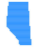 Map of Alberta. Detailed and accurate illustration of map of Alberta Royalty Free Stock Photo