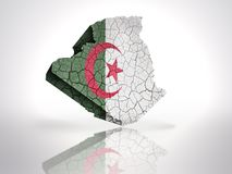 Map of Algeria. With Algerian Flag on a white background Royalty Free Stock Photo