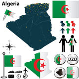 Map of Algeria Stock Image