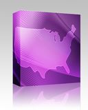 Map America box package Royalty Free Stock Images