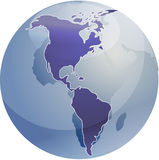 Map of the Americas  Royalty Free Stock Photo