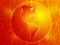 Map of the Americas on globe  illustration Stock Photo