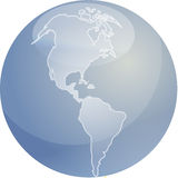 Map of Americas sphere Stock Photography