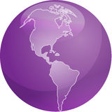 Map of Americas sphere Royalty Free Stock Photos