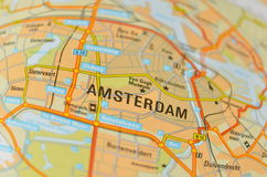 Map of Amsterdam Royalty Free Stock Photos