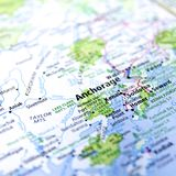Map of Anchorage Stock Image