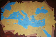 Map of ancient anatolia. Map of ancient mediterranean as background Stock Photo