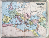 Map of the ancient Roman Empire Stock Image