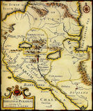 Map of ancient state. Map of ancient Armenia,Babylonia,Mesopotamia Stock Images