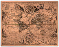 Map of ancient world Stock Image