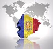 Map of  Andorra Stock Photos
