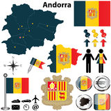 Map of Andorra Royalty Free Stock Photos