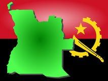 Map of Angola Stock Photo