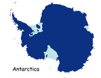 Map of Antarctica Royalty Free Stock Photography