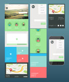 Map application interface vector Royalty Free Stock Photo