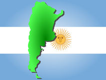 Map of Argentina Royalty Free Stock Photography