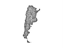 Map of Argentina on poppy seeds Stock Image
