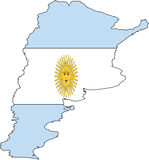 Map Argentina-Vector Royalty Free Stock Photography