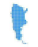 Map of Argentina. On white Royalty Free Stock Photo