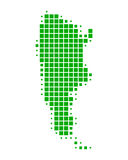 Map of Argentina Royalty Free Stock Image