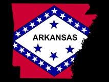 Map of Arkansas Royalty Free Stock Photography
