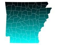 Map of Arkansas Stock Image