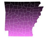 Map of Arkansas Royalty Free Stock Photos